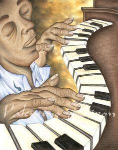 Smooth Blues Jazz artwork drawing $99 - $149 size preference click website Drawing Artwork, Jazz Artwork, Drawings, Abstract Artwork, Artwork, Abstract