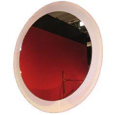 Lighted Wall Mirror by Mathieu Mategot