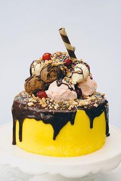 Banana Split Birthday Cake...