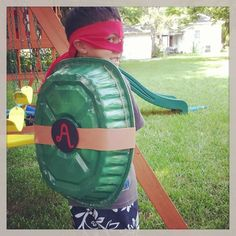 Ninja turtle party - make for the kids to wear while hitting the pinata