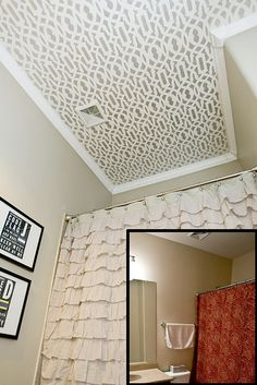 Painted Bathroom Ceiling | Small Bathroom Makeovers