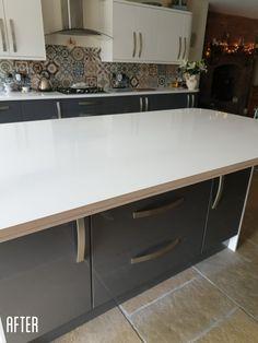 Wrapped by wrapsbyajltd Vinyl Wrap Kitchen, Kitchen Wrap, Old Kitchen, Kitchen Worktop, Kitchen Cabinets, Sticky Back Plastic, Cost Saving, Kitchen Doors, Work Tops