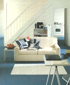 Geo pillows 80s living room