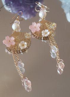 Japanese Fan Earrings
