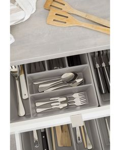 Our kaboodle kitchen cutlery and utensil drawer inserts are a great accessory to help add that little bit of order you're looking for in the kitchen! Drawer Inserts, Kitchen Cutlery, Diy Kitchen Storage, Drawers, Easy Diy, Canning, Organising, Kitchen Inspiration, Kitchens