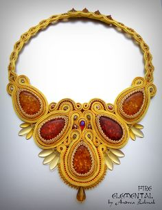 FIRE - Elemental Collection - Andrea Zelenak - Andrea.Z Style - soutache