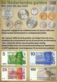 Gulden terug in 2019 Good Old Times, The Good Old Days, Retro Toys, Vintage Toys, Sweet Memories, Childhood Memories, Euro, Old Money, World Coins