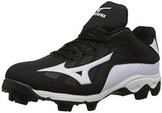 quality design 71301 16037 Mizuno 9 Spike ADV YTH FRHSE 8 BK-WH Youth Molded Cleat (Little Kid