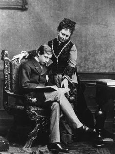 Princess Victoria and her son Wilhelm II of Prussia.