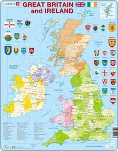 20 best jigsaw puzzles for school images on pinterest puzzles map of great britain and ireland 48 pieces in a tray i like this gumiabroncs Image collections
