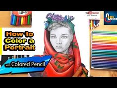 hı everyone lets draw the tutorial on coloring a realistic woman portrait with colored pencils. I show you how to color a scarf and how to color flowers, leaf.ı used faber castell bicolor Female Portrait, Portrait Art, Woman Portrait, Faber Castell, To Color, Colored Pencils, Drawings, Youtube, Coloring