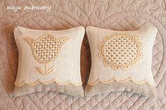 Schwalm Embroidery Theme : Pincushion Flowers - Mayu Embroidery