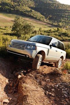 Silver Land Rover Range Rover Off Roading