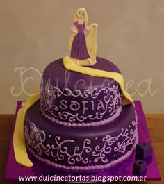 Torta Rapunzel Rapunzel Birthday Cake, Rapunzel Cake, Rapunzel Disney, Tangled Rapunzel, Cupcakes, Cupcake Cakes, Ideas Para Fiestas, Cakes And More, Holidays And Events