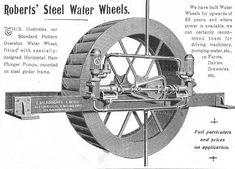 Image result for overshot water wheel