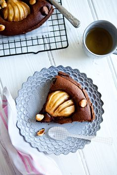 // chocolate pear tart