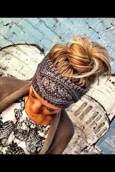Cool knitted head bands for winter
