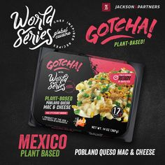 World Series/Gotcha Plant-Based RTE Meals; Globally Inspired. Grab your passport, pack your bags, & travel the world with Jackson & Partners one country at a time. Every new discovery enriches our lives & we are excited to introduce you to our new line of ready-to-eat meals from the US; inspired by Mexico. #readytoeatmeals #worldseriesglobalcuisines #jacksonandpartners #worldseriesglobaltour #gotcha #plantbased Burger Recipes, Pork Recipes, Seafood Recipes, Eat Meals, Steak Rubs, Cheese Plant, Homemade Burgers, Red Sauce, Red Beans