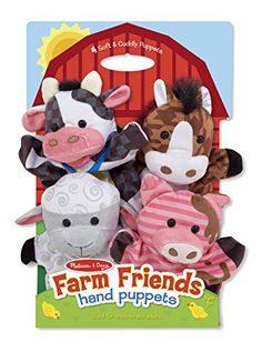Melissa & Doug Farm Friends Hand Puppets Melissa & Doug http://smile.amazon.com/dp/B00JBIY0MG/ref=cm_sw_r_pi_dp_3HLmwb13H7XB3