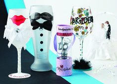 Say #IDo with #PhillyGiftShow exhibitor #TopShelf and their unique line of #wedding #glassware! Just a few of the company's many wares!