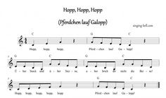 """Hopp, Hopp, Hopp""  Music Score with chords"