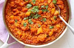 Kari z červené čočky/ red lentils curry Lentil Curry, Chana Masala, Gluten Free Recipes, Fast Recipes, Lentils, Food Inspiration, Macaroni And Cheese, Veggies, Food And Drink