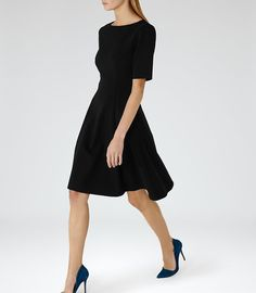 REISS - TIANNA FIT AND FLARE DRESS