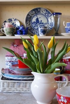 yellow on my kitchen table by dutch blue, via Flickr