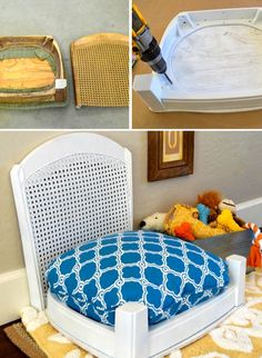 Making Sleeping Arrangements: Creative Ideas for DIY Dog Beds - #2 A DIY pet bed made out of an old chair