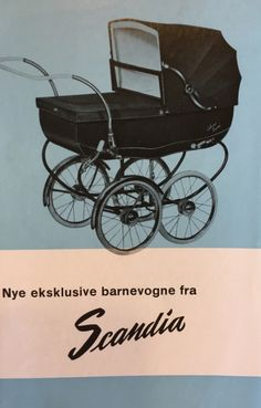 Scandia ca1958 Vintage Stroller, Vintage Pram, Baby Buggy, Baby Carriage, Prams, Kids And Parenting, Crafts To Make, Baby Strollers, Retro