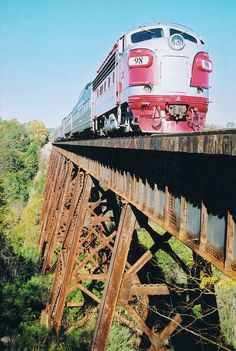 The Branson Scenic Railway is a 40-mile roundtrip excursion thru the Ozark foothills and tunnels.