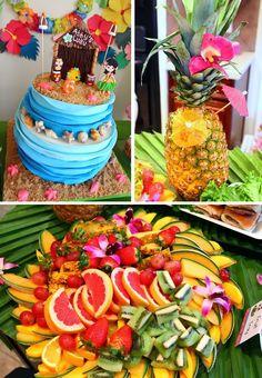 Party Planning Ideas Supplies Idea Cake Decorations Hawaiian Luau Party with So Many Great Ideas via Kara's Party Ideas Aloha Party, Party Fiesta, Hawaiian Luau Party, Moana Birthday Party, Hawaiian Birthday, Luau Birthday, Tiki Party, 6th Birthday Parties, Hawaiian Theme