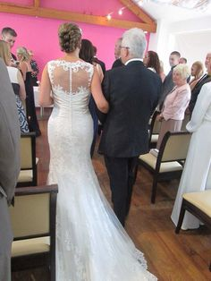 A lovely photo of the back of the Justin Alexander dress(8596) I'll be wearing to my wedding!