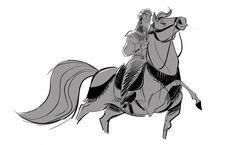 Animation Art — Frozen character designs by Bill Schwab