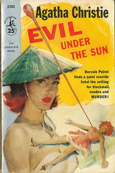 Evil Under the Sun by Agatha Christie. Pocket Book edition. Golden Age British crime fiction, US paperback edition.