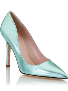 Kate Spade New York Aqua Metallic Pumps