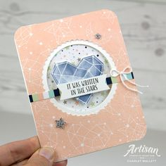 Little Twinkle Pop Up card- Charlet Mallett, Stampin' Up! Baby Cards, Kids Cards, Stampin Up Catalog, Birthday Thank You, Beautiful Handmade Cards, Card Tutorials, Love Cards, Stampin Up Cards, Twinkle Twinkle