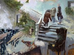 New Oil Paintings That Trace Fictitious Memories by Joshua Flint | Colossal