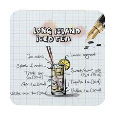 Long Island Iced Tea Recipe, Tea Gif, Tea Coaster, Olive Gardens, Custom Coasters, Yummy Drinks, Drink Recipes, Blackberry, High Gloss