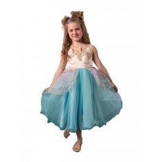 6c5fb7b87e91 Little Girls Mint Blue Sleeveless Top Layered Skirt Unicorn Dress 1-6 Unicorn  Dress,