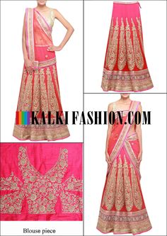 Get this beautiful lehenga here: http://www.kalkifashion.com/scarlet-red-lehenga-adorn-in-pita-zari-work-only-on-kalki.html Free shopping worldwide.