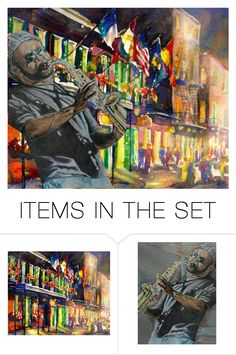 """""""Night In New Orleans"""" by sjlew ❤ liked on Polyvore featuring art"""
