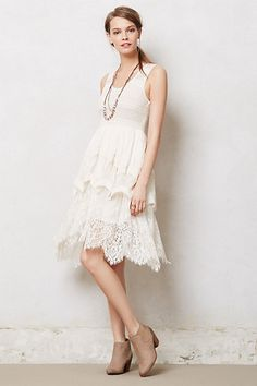 Lacefall Dress #anthropologie I like the lace on this one, nice shape and length too. Poss for regional party?