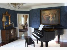 Piano Room - Home and Garden Design Ideas. I WILL defenatelly have one in my future home. :)