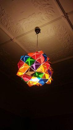 Origami Cube - Colorful Pendant Light - Handmade Lighting, Bright Lights
