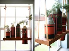 love these hanging shelves!