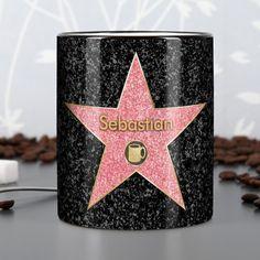 Kaffee-Tasse Kaffeepott mit Ihrem Wunschnamen auf dem Walk of Fame
