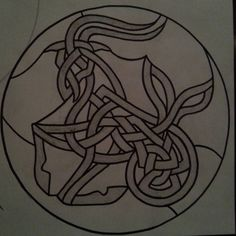 capricorn celtic knot stained glass design! I can't wait to build this