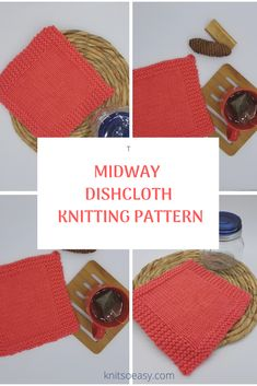 The Midway dishcloth/washcloth pattern is a great pattern for beginners or experienced knitters that need to knit a batch quickly.