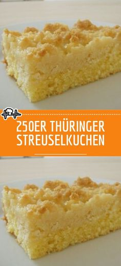 Thüringer Streuselkuchen - Die Küche 250 Thuringian crumble cake - the kitchen, # 250 Puff Pastry Recipes, Food Cakes, Cooking Time, Vanilla Cake, Cake Recipes, Food And Drink, Catering, Sweet, Recipe Ideas